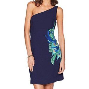 NWT Lilly Pulitzer Jamie One Shoulder Dress Navy